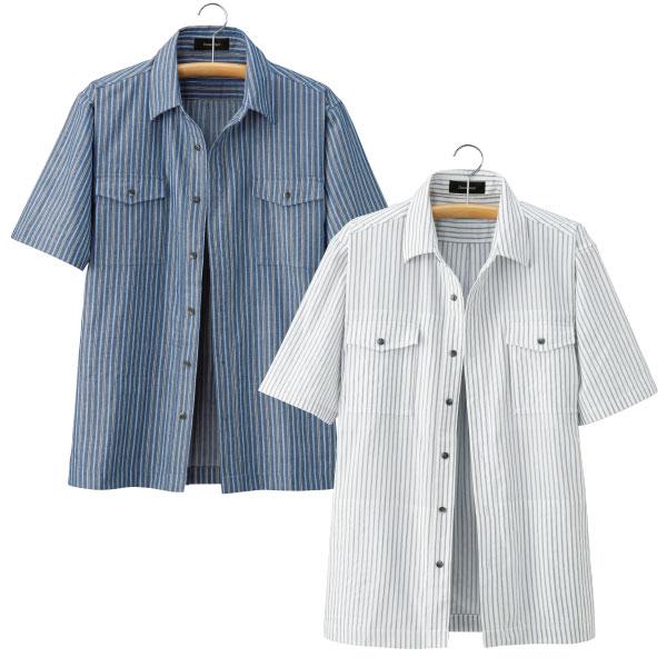 10ポケット ストライプシャツジャケット